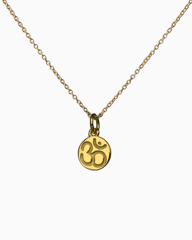 gold plated ohm necklace by veda