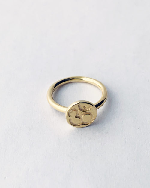 gold ohm ring by veda