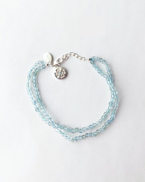 blue topaz throat chakra bracelet by veda