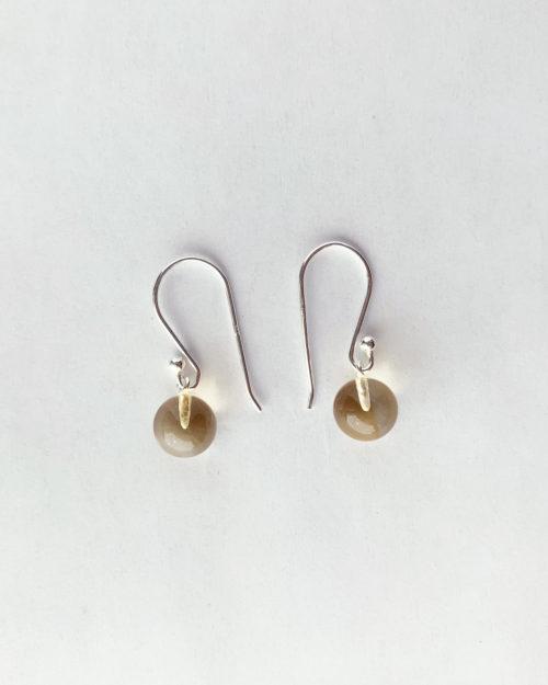 citrine silver drop earrings by veda